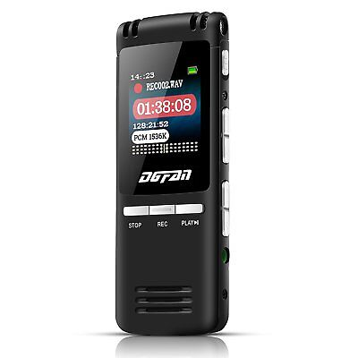 DGFAN Voice Recorder, 560 Hours Rechargeable 8GB Audio Voice Activated Recorder