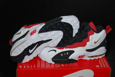 new styles bfca6 723ad NEW Nike Air Max Speed Turf 49ers White Black Red Diamond 525225-101 Sz.