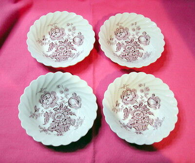 FOUR Charlotte Berry Bowls, Clarice Cliff, Royal Staffordshire, LAVENDER