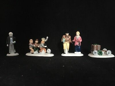 Nicholas Nickleby Dept 56 Heritage Village Dickens Accessories set of 4