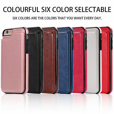 Dooqi Leather Wallet Case Card Slot Flip Cover For Apple iPhone 6 /iPhone 6 Plus