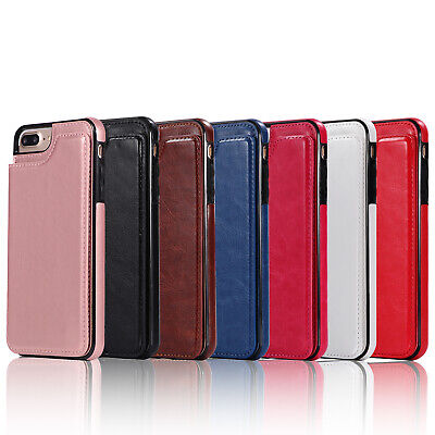 Dooqi Leather Wallet Case Card Slot Flip Cover For Apple iPhone 7/iPhone 7 Plus