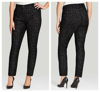 884785be012 NEW NYDJ Not Your Daughters Jeans Jade Houndstooth Black Legging 22 W Plus  Size