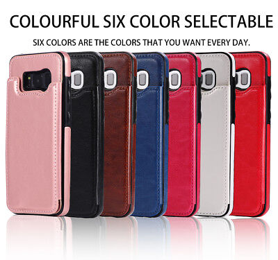 Dooqi Leather Wallet Case Card Slot Flip Cover For Samsung Galaxy S8 / S8 Plus