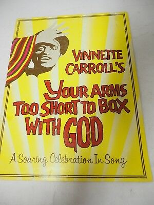 """Vinnette Carroll's""""Your Arms too Short To Box with God"""" Program 1982 Variety art"""