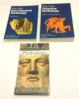 Lot 3 Mythology Books Visual Reference Guide Who's Who Classical + Non-classical