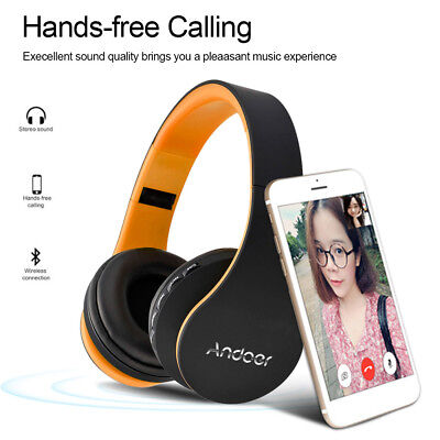Wireless Bluetooth Foldable Headphones Stereo Headset Earphone FM MP3 SD TF R8D0