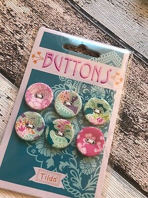 Tilda Sunkiss Range Buttons 20mm x 6 fabric covered