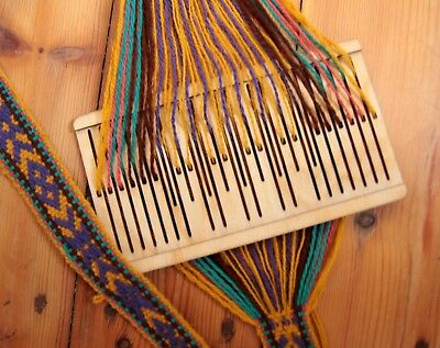9 double slot rigid heddle loom, backstrap loom,saami band weaving, inkle,baltic