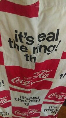 Coca Cola 1970s Apron,  It's the real thing