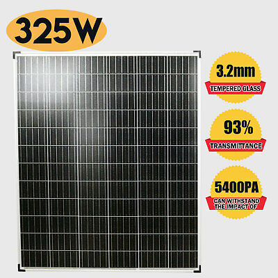 12V 325W Solar Panel Monocrystalline with Anderson Plug MC4 Connector