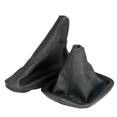 Shift Gaiter & Hand Brake Cuff Suitable for BMW E46 Real Leather in Black