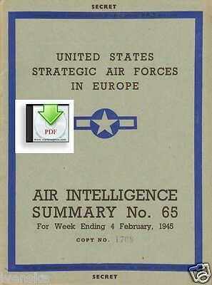 CD File Air Intelligence Summary 1945 02 8th & 15th Air Force Ar234 Ludwigshafen