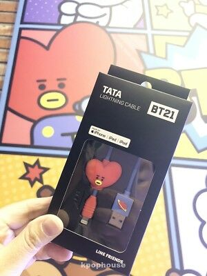 [BT21 x LINE FRIENDS]OFFICIAL BTS MD TATA Lightening Cable for iPhone 8Pin