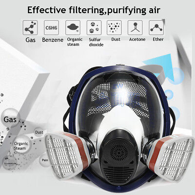 15 in 1 Gas Mask Full Face Facepiece Respirator Spray Paint Filter for 3M 6800