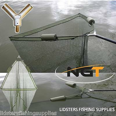 """36"""" Inch Large Carp Pike Fishing Landing Net With dual 2 Net Floats NGT Tackle"""