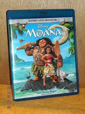 Moana (Blu-ray/DVD, 2016) DISNEY family Auli'i Cravalho Dwayne Johnson Rachel H.