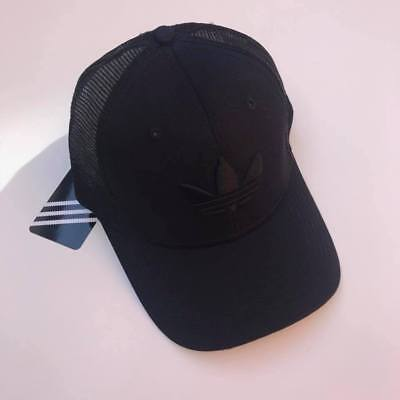 Adidas Originals Cap Hat Black Trefoil Trucker Mesh Baseball  Clearance Sale