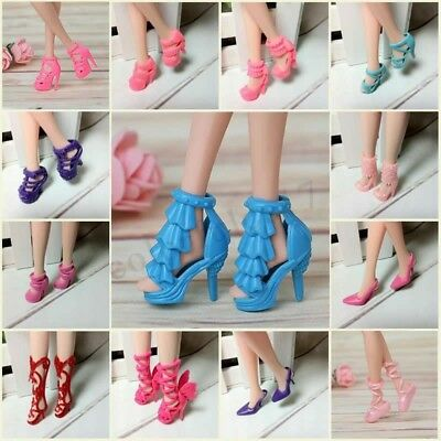 40 Pairs Fashion Assorted Multiple Styles High Heel Shoes For Barbie Doll Gift