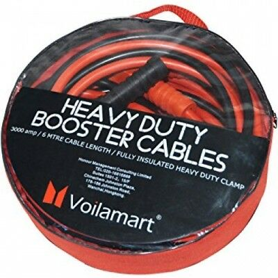 Voilamart Heavy Duty 3000AMP 6M Car Battery Jump Leads Booster Cables Jumper