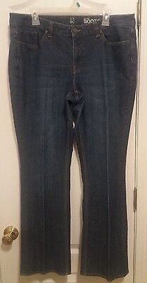 New York & Company Low Rise Bootcut Curvy Womens Size 16 Denim Blue Jeans