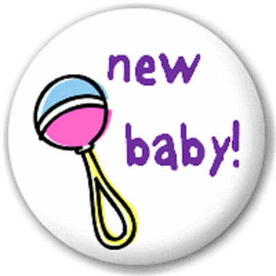 New Baby! – 25 Mm Pin Button Badge