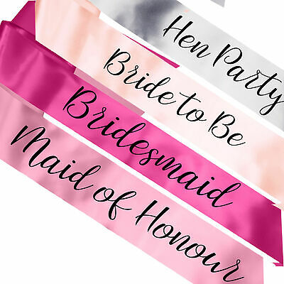 NEW Luxury Hen Party Sashes Night Out Bride to Be Sash Ideas Instagram UK Made