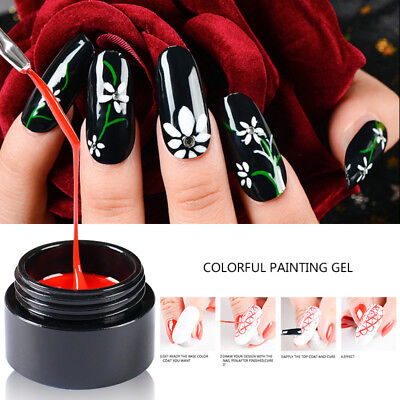MTSSII 5ml Colorful Painting Gel Nail Polish UV Gel Manicure Decoration 12Colors