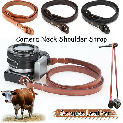 Leather Camera Neck Shoulder Strap 3 Color for Leica for Fuji for Sony for Nikon