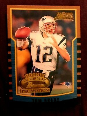 TOM BRADY (RC) Rookie Card 2000 Bowman Promotion Novelty - Patriots - GOAT