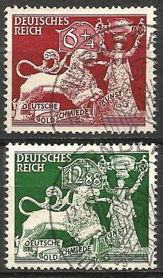 Germany (Third Reich) 1942 Used 10th Anniv Goldsmith's Institution Swastika Canx
