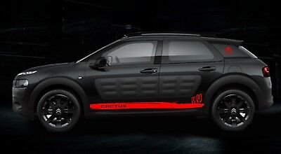 PAIR DECAL GRAPHICS FOR CITROEN C4 CACTUS STICKERS ANY COLOUR