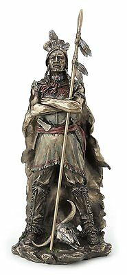 Native American Indian Chief Samoset with Spear Statue Sculpture Figurine Decor