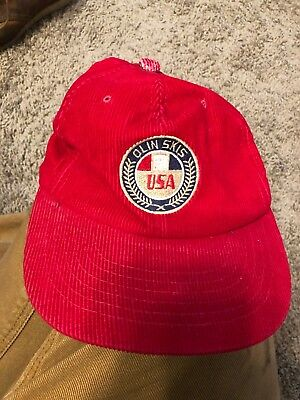 318493bb VTG 80S CONNELLY Water Skis Trucker Hat Red Corduroy Colorful ...