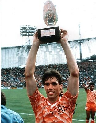 MARCO VAN BASTEN Signed 16x12 Photo HOLLAND AFTAL OnlineCOA