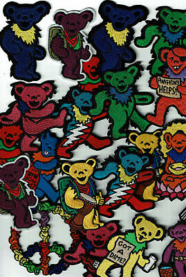 """3/"""" Grateful Dead Bears Athletics patch Iron on patches dancing bear free us ship"""