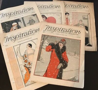 Inspiration Magazine Woman's Institute Sewing Fashion 1925 1926 Vintage Lot 5