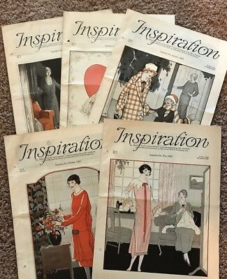 Inspiration Magazine Woman's Institute Sewing Fashion 1925 Vintage Lot 5