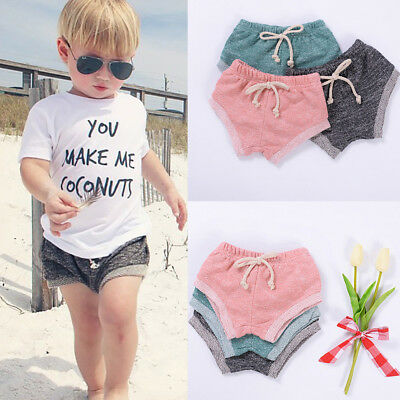 Infant Toddler Kids Girls Boys Shorts Pants Summer Beach Sports Casual Clothes