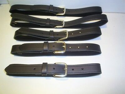 boys  girls real leather school belts colour black 20 to 30 waist
