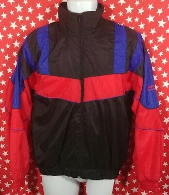 0b1ec8d3da2d Men s Vintage 90s Spalding Color Block Lined Nylon Full Zip Windbreaker  Jacket S