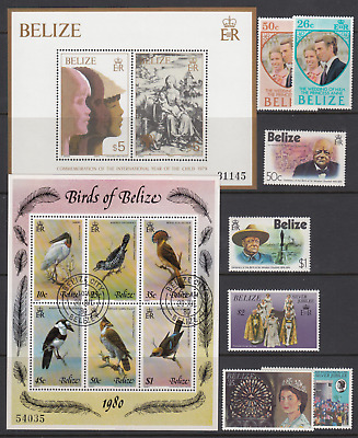 Belize Stamps and Miniature Sheets