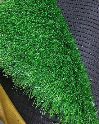 2m x 5m CLEARANCE Artificial Grass Astro Turf Fake Lawn Green Garden - 25mm