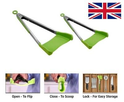 Kitchen Spatula and Tongs Stainless Steel Clever Tong size: 9 inch