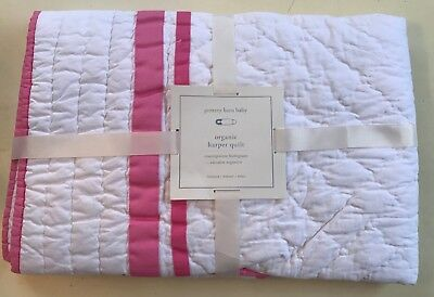 Pottery Barn Kids Baby Toddler Organic Harper Quilt~Bright Pink~Sold Out~NWT