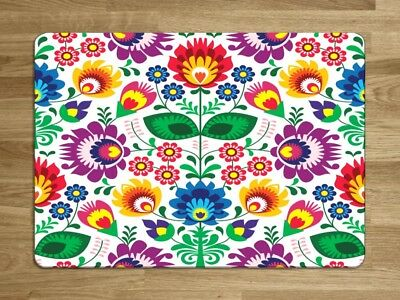 Glass Worktop Protector Saver Cutting Chopping Board Rayware Alpine Posy Flower