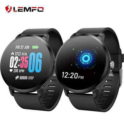 LEMFO Smartwatch Android ios Real-time Heart Rate Blood Pressure Monitor Sport