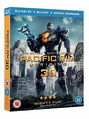 Pacific Rim Uprising 3D (Blu-Ray+Digital Download, Region B) Ships in 12 hrs!!!
