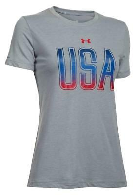 dffdd6a2d1 UNDER ARMOUR WOMEN'S UA Freedom USA Short Sleeve T Shirt Size Medium ...