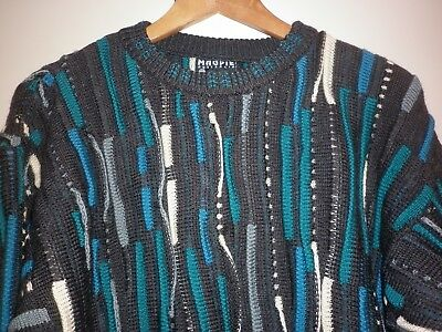 Vintage  Large Australian Made Crazy Textured Jumper Good Condition